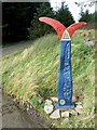 SN9003 : National Cycle Network Marker 47, Gwaun Blaencorrwg by Kev Griffin