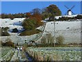 SU7691 : Turville Hill and Windmill by Andrew Smith