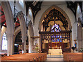 TQ2565 : All Saints church Benhilton - interior by Stephen Craven