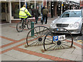 SO1091 : Cycle parking wheels by Stephen Craven