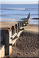 TM5176 : Groyne on Southwold beach by Bob Jones