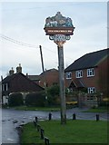 TQ8461 : Stockbury Green and Village Sign by David Anstiss