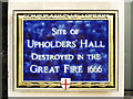 Photo of Upholders' Hall blue plaque
