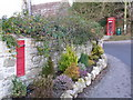 SY7387 : West Knighton: phone box and redundant postbox by Chris Downer