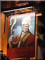 TQ3181 : Sign for The Bishops Finger by Mike Quinn