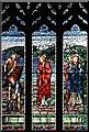 TQ3193 : St John the Evangelist, Palmers Green, London N13 - Window by John Salmon