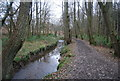 TQ5638 : High Weald Way along the banks of the River Grom, East of High Rocks by N Chadwick