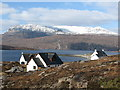NH1098 : Ardmaor Bay and Ben Mohr Coigach  in winter by Ike Gibson