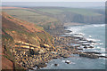 SW6026 : Coastline west of Porthleven by Bob Jones