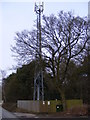 TM2245 : Telecommunications Mast, Kesgrave by Adrian Cable
