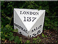 SJ6910 : Milestone, Holyhead Road, Oakengates by Gordon Cragg