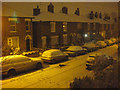 TM0025 : Night-time snow scene in Roman Road (2) : Week 5