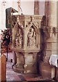 TL4478 : St Andrew, Sutton - Pulpit by John Salmon