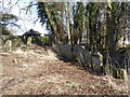 TL1488 : A  second row of gravestones, Caldecote by Michael Trolove