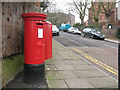TQ4077 : Georgian postbox,  Glenluce Road by Stephen Craven