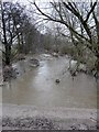 SK1019 : River Blithe north of Hamstall Ridware by Graham Taylor