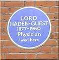 Photo of Leslie Haden-Guest blue plaque