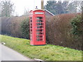 TM0942 : Chattisham Telephone Box by Adrian Cable