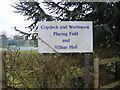 TM1141 : Copdock &amp; Washbrook Playing Field &amp; Village Hall Sign by Adrian Cable