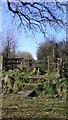 SU8427 : Footpath leaves road by Wardley Farm by Shazz
