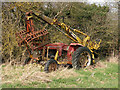 TL5766 : Abandoned Massey Ferguson tractor with Webb grab by Keith Edkins