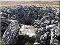 SN7361 : Interior of the cairn on the west top of Garn Gron by Rudi Winter