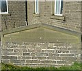 SE0528 : Commemorative stone at Moor End United Reformed Church, Mixenden by Humphrey Bolton