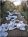 TQ7264 : Fly Tipping near Wouldham : Week 12