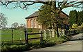 SJ8775 : Iron fencing near Alderley Edge by Geoff Royle