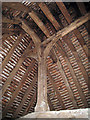 SU8712 : Crown post inside roof of Bayleaf House by Oast House Archive