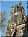 SJ7560 : Bell tower of St Mary's church, Sandbach by Stephen Craven