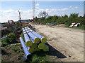 TL2095 : Roadworks, Stanground by Michael Trolove