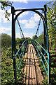 SE7667 : Footbridge across the river Derwent : Week 18
