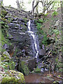 SD6621 : Waterfall on stream above Roddlesworth reservoir by Gary Rogers