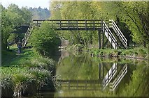 SU3168 : Barrackfield footbridge, bridge 53A by Graham Horn