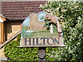 TL2866 : Hilton Village Sign by Adrian Cable