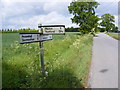 TM3470 : Roadsign on  Heveningham Long Lane by Adrian Cable