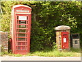 SY9194 : Morden: postbox № BH20 102 and phone, Lower Street by Chris Downer