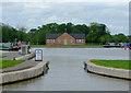 SJ6153 : Entrance to the new marina near Burland, Cheshire by Roger  Kidd