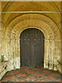 SP3725 : The Parish Church of St Kenelm's, Enstone, Doorway by Alexander P Kapp