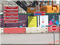 TQ3783 : Olympic site - temporary signage by Stephen Craven