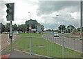 SJ4366 : Sainsbury's roundabout by Dennis Turner