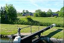 SU4366 : Railway from Benham Lock by Graham Horn