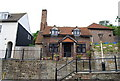 TQ8209 : Brick cottage on the High St, Hastings Old Town by N Chadwick