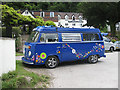 SO5615 : Flowery VW Camper by Pauline Eccles