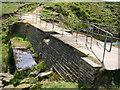 SE0431 : Footbridge over Skirden Clough by John Darch