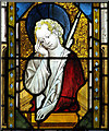 TM3699 : All Saints Church - east window detail by Evelyn Simak