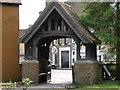 TL0967 : Church Lych Gate, Kimbolton by Michael Trolove