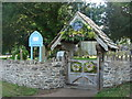 SO0826 : Festooned lych gate, church of St. Peter and St. Illtyd by Ruth Sharville
