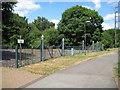 SU8756 : Farnborough Street: Ornate railings by Nigel Cox